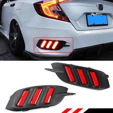 Civic Rear Bumper Light Amazon Com Fits For 2016 2018 Honda Civic Rear Bumper