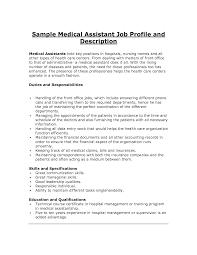 Executive Assistant Job Description For Resume Medical Assistant Job Description Resume Resume Badak 13