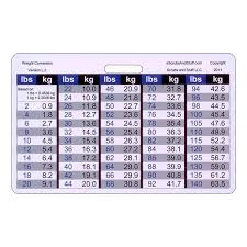 Weight Reference Chart Buy Weight Conversion Chart General Range Horizontal Badge
