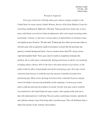 essays on gun control compare essay outline thesis statement for comparison essay writing essays from start to gun control essay