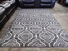 gray black rug 5x8 modern contemporary geometric area rugs new free