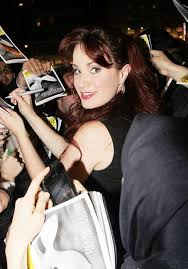 Sierra Boggess signing autographs after Phantom on Broadway.