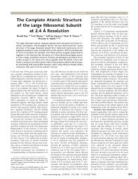 (PDF) The Complete Atomic Structure of the <b>Large</b> Ribosomal ...