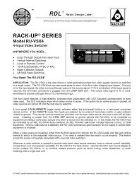 Radio Design Labs Radio Design Labs Ru Svx4 Brochure