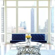 blue and white accent chair. Dark Blue Velvet Tufted Accent Chairs With Cocktail Table Artistic And White Striped Chair