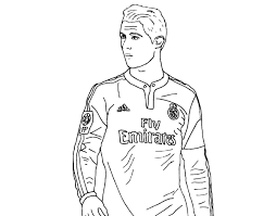 Small Picture Cristiano Ronaldo Cr7 Coloring Pages Sketch Template Throughout
