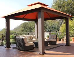 Decorations:Nice Gazebo Outdoor Canopy Design Idea On Grass Located In Back  Yard Incredible Outdoor