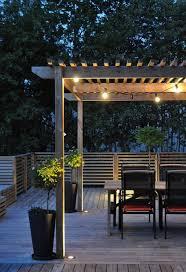 Wooden Patio Outdoor Lighting Ideas