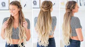 Luxy Hair Style fishtail half updo hairstyle luxy hair youtube 5515 by wearticles.com