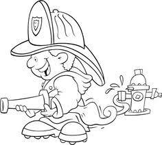 35 Beste Afbeeldingen Van Brandweer Kleurplaten Coloring Pages