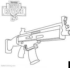 Mix Fortnite Weapons Rifle Scar