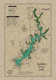 tenkiller ferry lake classic map  gallup map