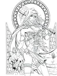 Adult Coloring Pages Printable Fairy Tale Coloring Page Fairy Tales