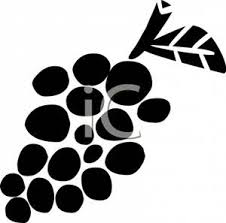 grapes clipart black and white. black and white bunch of grapes - clipart