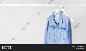 Light Gray Denim Jacket Blue Denim Jacket On Image Photo Free Trial Bigstock