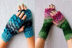 Dragon Scale Fingerless Gloves Pattern Free Cool Design Ideas