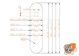 Skateboard Length And Width Chart Skateboard Buyers Guide