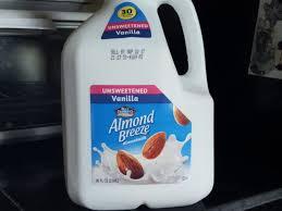 blue diamond almond breeze unsweetened vanilla almondmilk 96 fl oz jug