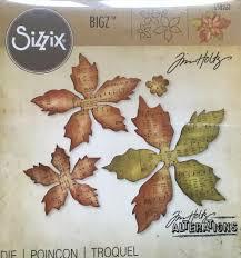Sizzix Bigz Die Tattered Poinsettia By Tim Holtz 658261 New
