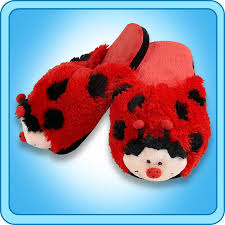 Ladybug Bedroom Slippers Ms Ladybug Slippers My Pillow Petsar The Official