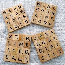 Scrabble Drink Coasters, Creative Coaster Ideas, http://hative.com/