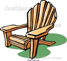 lounge chair clipart. lounge chair or deck clipart o