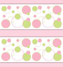 on wall art decals borders with pink green polka dot wallpaper border wall art decal girl