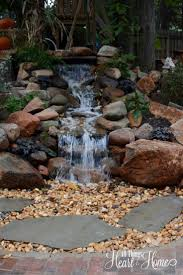 Backyard Ponds Best 25 Pond Waterfall Ideas Only On Pinterest Diy Waterfall