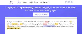 the best grammar and punctuation checker tools of  languagetool