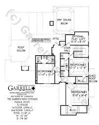 garden view cottage house plan 05123 2nd floor plan