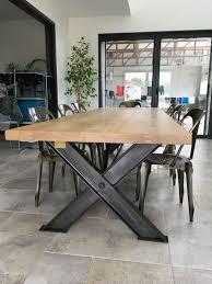 Superbe Table Industrielle Pieds X En Ipn De 3 M индустриальный