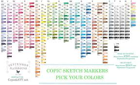 Touch Marker Chart Copic Sketch Chart At Paintingvalley Com Explore