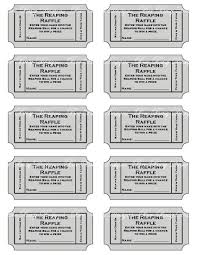 Perforated Raffle Ticket Sheets 10 Best Images Of Printable Tickets For Fundraiser Free Printable