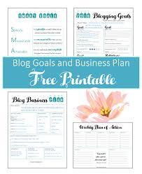 Printable Business Plan Free Printable Blog Planners 23
