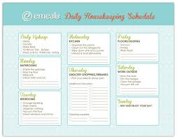 Best Photos of Daily House Cleaning Schedule Template - Weekly ...