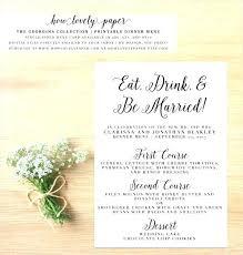 Party Menu Template Printable Dinner Menu Template Fancy Party Blank Free
