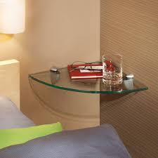 Corner Glass Shelves And Brackets GLASSLINE Corner Jam Glass Corner Shelf Set Clear Blue Stone 8