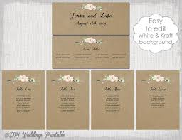 Rustic Seating Chart Template Printable Seating Chart Cards