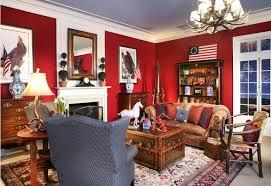 living room red walls decor
