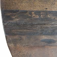 chip rustic lodge reclaimed wood round pedestal dining table kathy kuo home