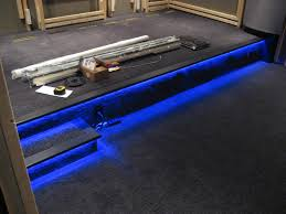 home theater floor lighting. i also have step lighting that can turn on by itself does a pretty good job of the room enough to walk around home theater floor