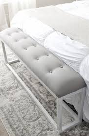 bedroom bench. bedroom bench diy this chic looking seat is made of wood and fabric. see a