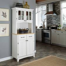 kitchen hutch home styles white buffet with hutch 5001 0021 12 the home depot for the most elegant hilale furniture