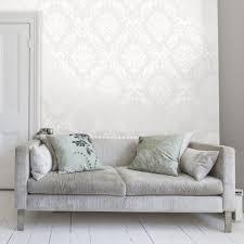 Pink Damask Wallpaper Bedroom Henderson Interiors Chelsea Glitter Damask Wallpaper White