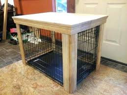 table to go over dog crate i also design and build rustic cedar outdoor ice chest