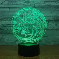 Boogie Bomb Led Light Amazon Com Qiandong1 Game Of Throne Souvenir Dragon Totem