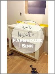 simpledecoratingtips com how to install a farmhouse sink