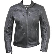 las armored leather motorcycle jacket