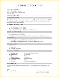 12 Curriculum Vitae Samples Pdf For Freshers Hvac Resumed
