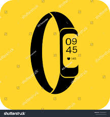 Band Logo Design App Smart Band Watch Logo Flat 3d Technology Signs Symbols